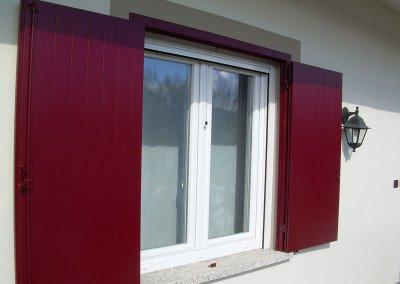 Scuri in alluminio rosso vinaccia