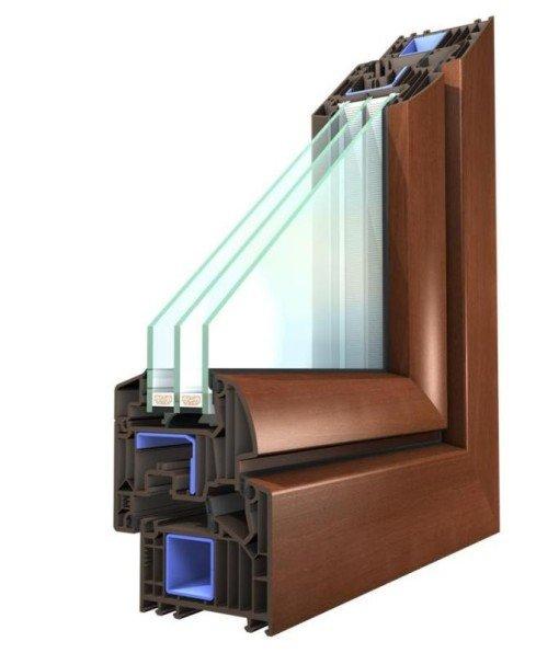 Sezione pvc da 82 mm triplo vetro lesizza serramenti - Vetrocamera basso emissivo prezzi ...