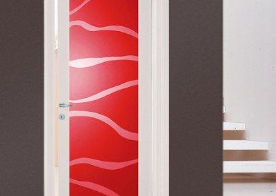 Porta interna laccato bianco rosso