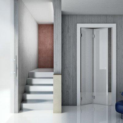 Porte a libro in vetro per interni idea creativa della - Porte in vetro design ...