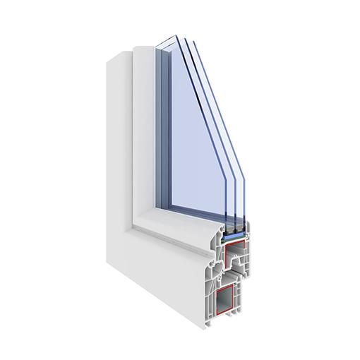 Sezione pvc arrotondato triplo vetro a 3 guarnizioni - Finestre triplo vetro ...