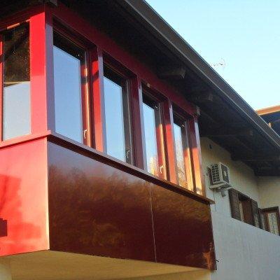Realizzazione Veranda rossa