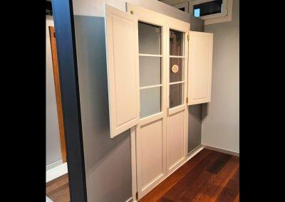 Porta finestra pvc con scuretto interno